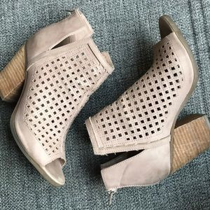 Francesca's Open Toe Booties